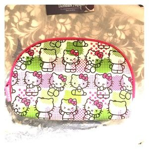 Preppy Hello Kitty Make-Up Bag